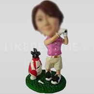Golfer Bobble Head Doll-7-11034