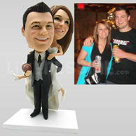 Wedding Bobbleheads Football Lover-10745