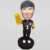 Personalized Bobble Head Doll -Pittsburgh Steelers Fan with Terrible Towel