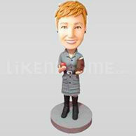 Bobble Head Doll School Teacher 2-11115