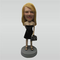 Custom Strapless short skirts bobbleheads