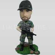 Custom Bobblehead Military 5-11146