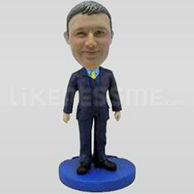 Custom Bobblehead Man Well Dressed 5-11163