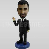 Custom Bobblehead Man Waving-11172