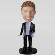 Custom Bobblehead Man Casual 12-11198