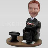 Custom Bobblehead Man Easy Chair-11203