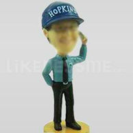 Custom Bobblehead Man Talking On Phone-11218