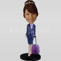 Custom Bobblehead Flight Attendent-11319