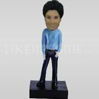 Custom Bobblehead Woman Blue Top-11327