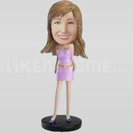 Custom Bobblehead Woman Casual 2-11330