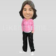 Custom Bobblehead Woman Casual 5-11331