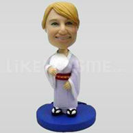Custom Bobblehead Woman Casual 12-11335