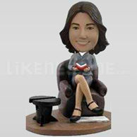 Custom Bobblehead Woman Easy Chair-11340