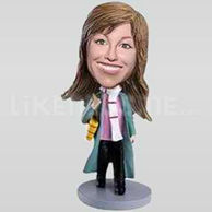 Custom Bobblehead Woman Raincoat-11356