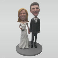 Custom wedding bobblehead dolls