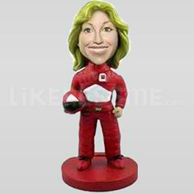 Custom Bobblehead Race Car Driver-11363