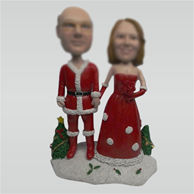 Custom Santa Claus wedding cake bobbleheads