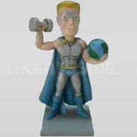 Custom Bobblehead Super Hero 11453-11454