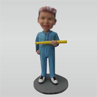 Custom baseball bobble head