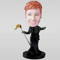 Custom Bobblehead Witch-11495