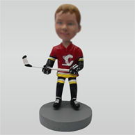 Personalized custom hockey athlete bobble heads