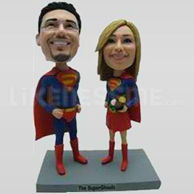 Bobble Head Doll Superman Couple-11569