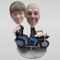 Personalized custom moto couple bobbleheads