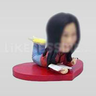 Custom Bobblehead Girl Reading Book-11631