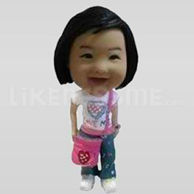 Custom Bobblehead Little Girl Shoulder Bag-11636