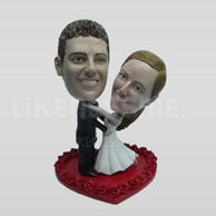 Personalized custom sweet wedding bobblehead