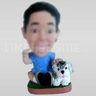 Custom Bobblehead Boy Dog-11645