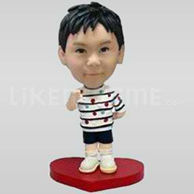 Custom Bobblehead Boy On Heart-11646
