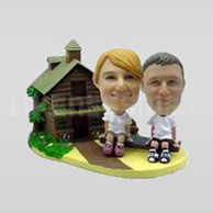 Cottage Theme Bobblehead Couple-11661