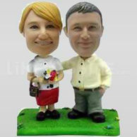 Casual Personalized Couple Bobbleheads-11664