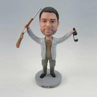 Personalized custom Hunters and gun bobbleheads