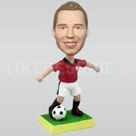 Personalized Soccer Player Red Jersey Bobblehead-11711