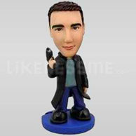 Secret Agent Gangster Bobblehead-11716