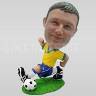 Running Personalized Soccer Player in Action Bobblehead-11719