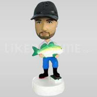 Fred the Fisherman Bobblehead-11736