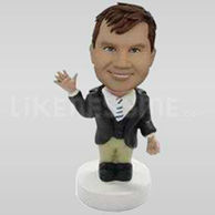 Happy Waving Personalized Bobblehead-11737