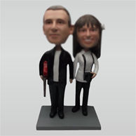 Custom weet wedding bobble heads doll