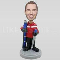 Handsome Skiing Bobblehead-11786