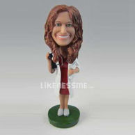 Personalized custom femal doctor bobbleheads