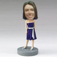 Custom blue derss girl bobbleheads