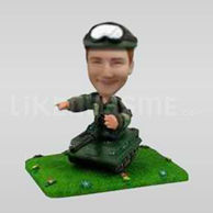 Military Soldier Bobblehead in Tank-11800