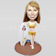 Bobble Head Doll Surfer Girl-11833