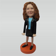 Custom Holding business card bobbleheads