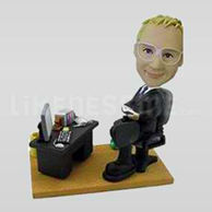 Businessman in Office Bobblehead-11923