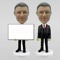 Businessman Card holder Personalized Bobblehead-11924