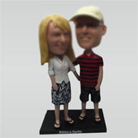 Custom weet wedding bobble head doll